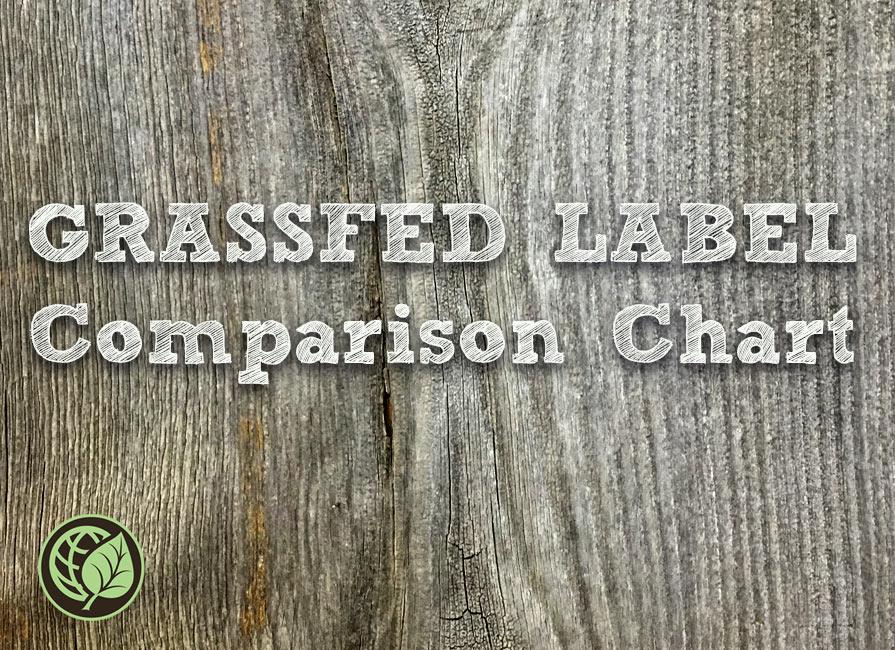 Certified Grassfed Label Comparison Chart