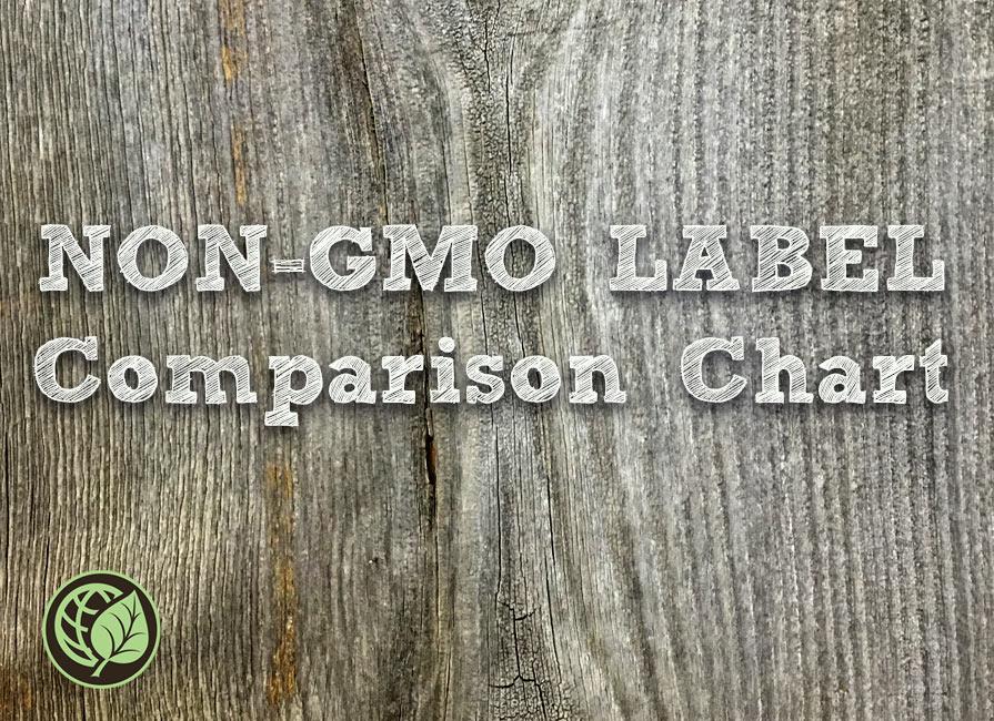 Certified Non-GMO Comparison Chart